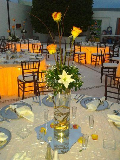 Un lindo centro de mesa