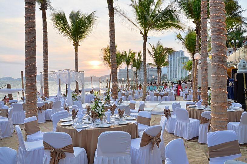 ce6744ae0 Hotel Copacabana Cena boda playa