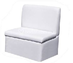 Sofá rectangular blanco