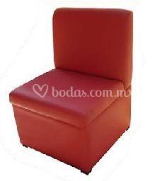 Sofá rectangular rojo