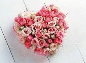 Corazón de 60 rosas