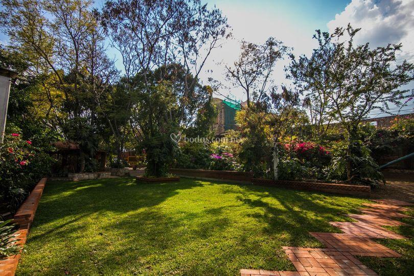Jardín y Ex convento