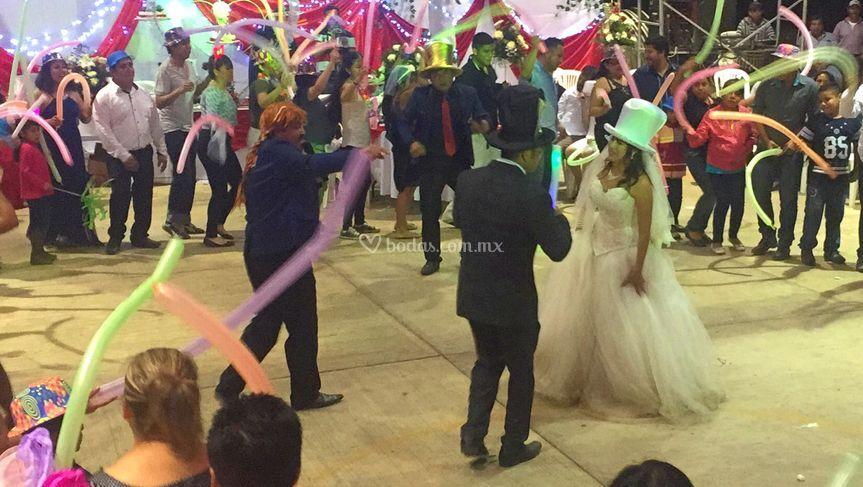 Una boda con mucho ambiente