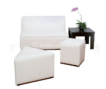 Juego lounge blanco