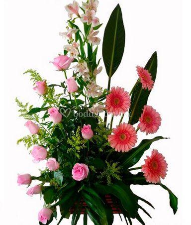 Flores tonos rosados