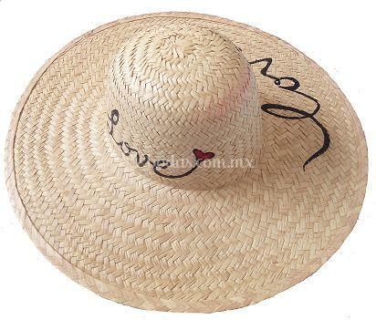 Sombrero de palma pintado