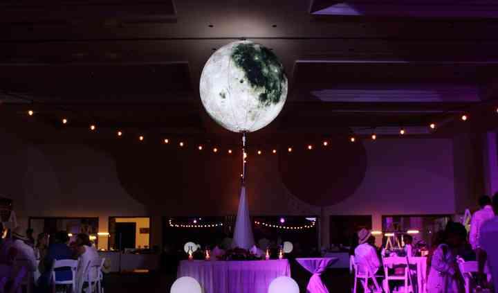 Crystal luna & bistro lights