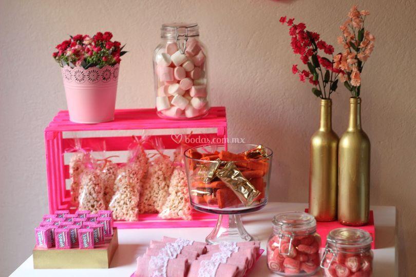 Jolie mesas de dulces y snacks - Decoracion de mesa de dulces ...