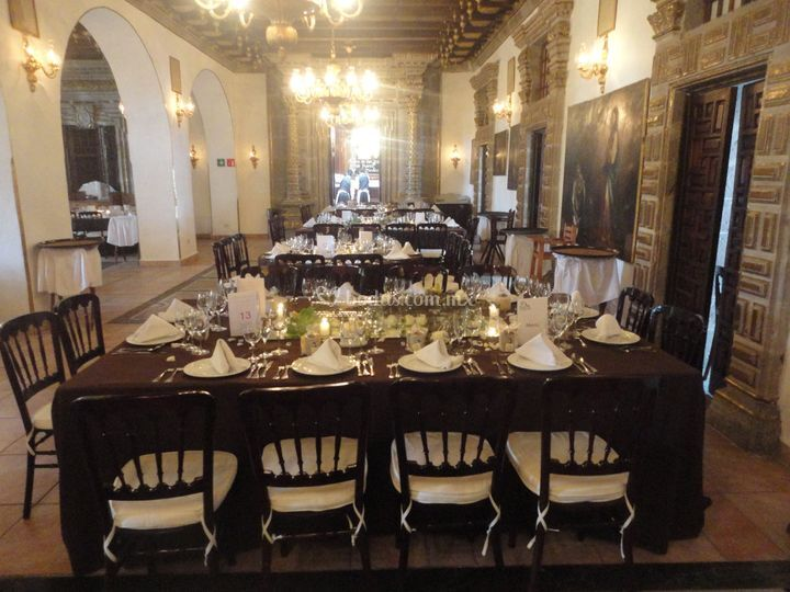 Mesas en boda