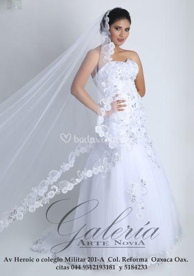 Vestido corte sirena Blanco