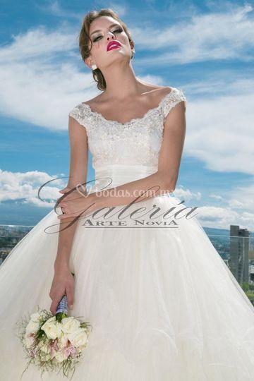 Vestidos novia con manga