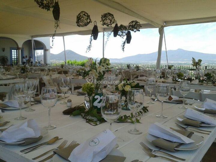 Montajes boda vintage de Los Agapantos