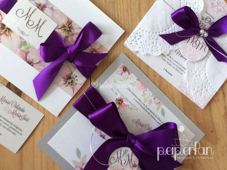 Invitación Purple