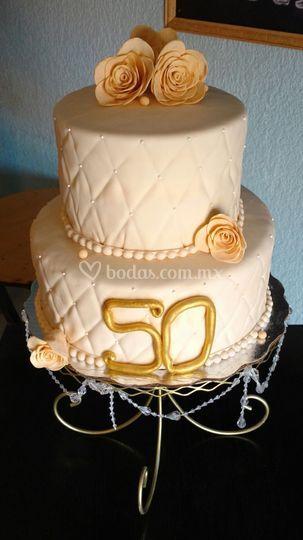 Pastel acolchado 50 aniv