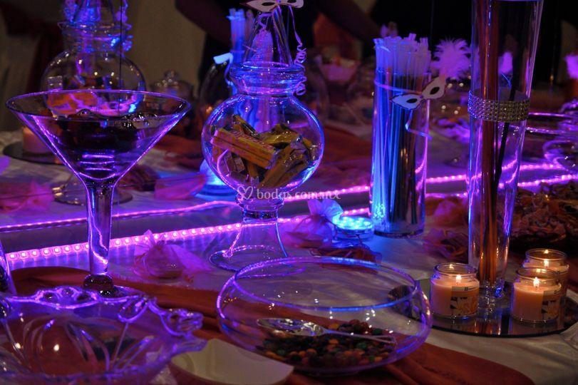 Variedad de dulces y decorados