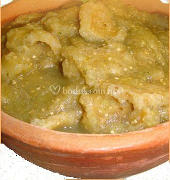Chicharrón en salsa verde