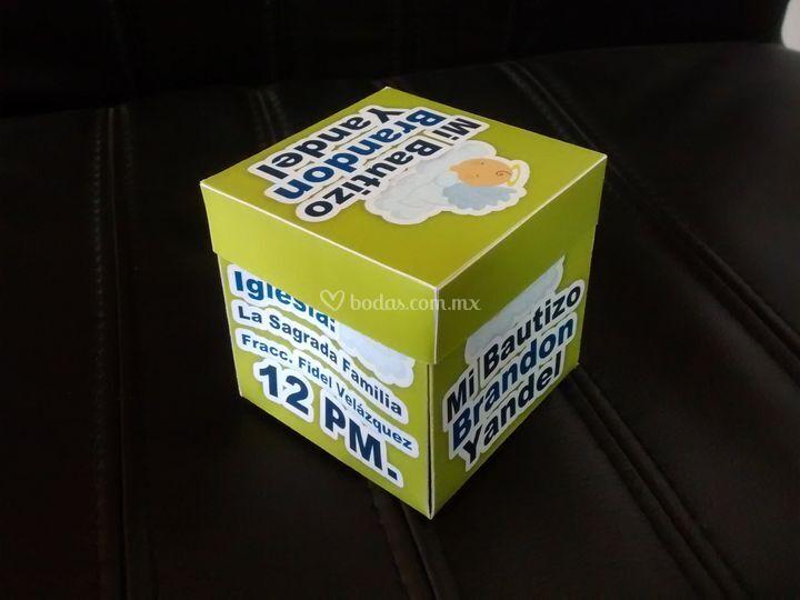 Prototipo de invitación caja