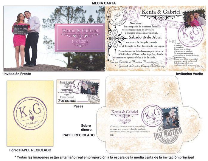 Invitación tipo postal