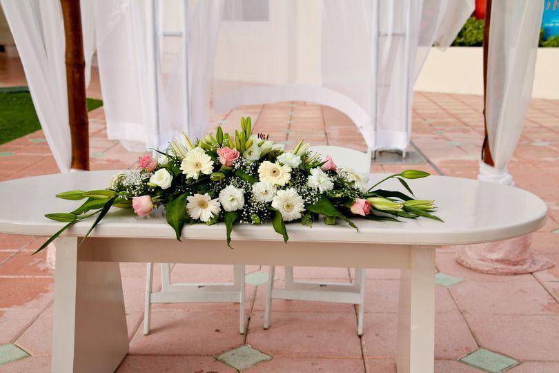 Centro de mesa para ceremonia