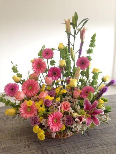 Diseño floral para envío