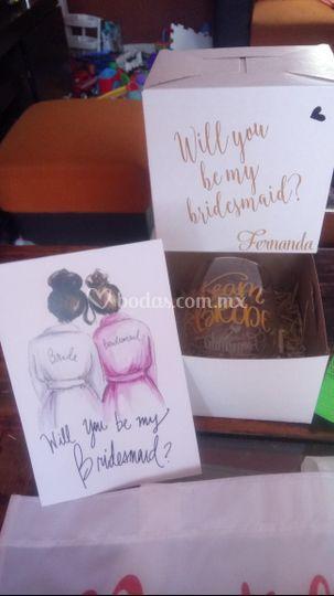 Cajas bridesmaid