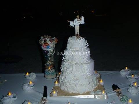 Pastel diseñado por la novia