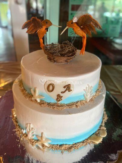 Pastel de boda Riviera Maya