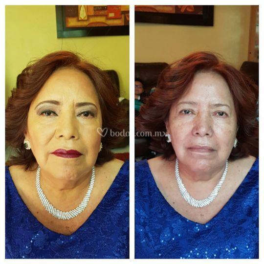 Maquillaje piel madura (mamá)