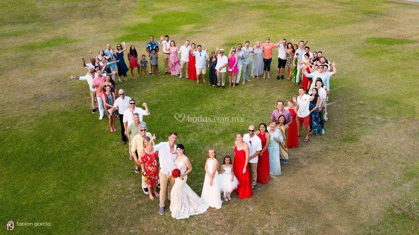 Fotografía dron en bodas