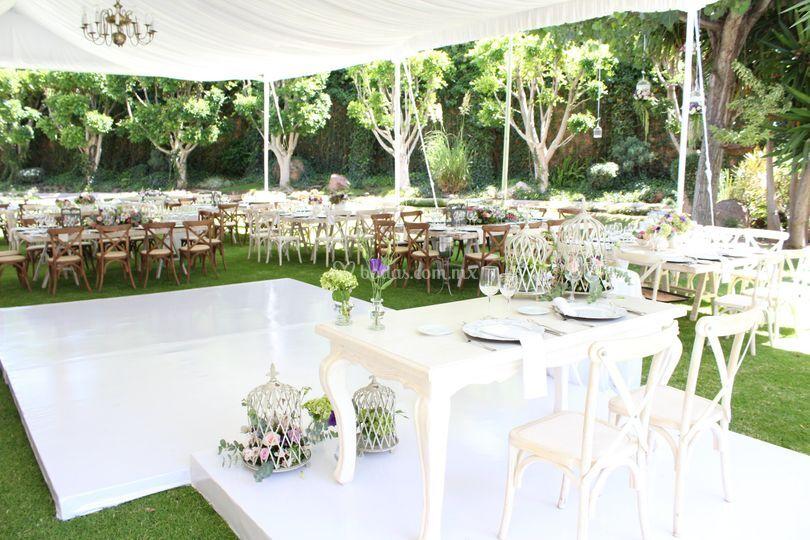 Sal n hacienda del refugio for Bodas sencillas en jardin