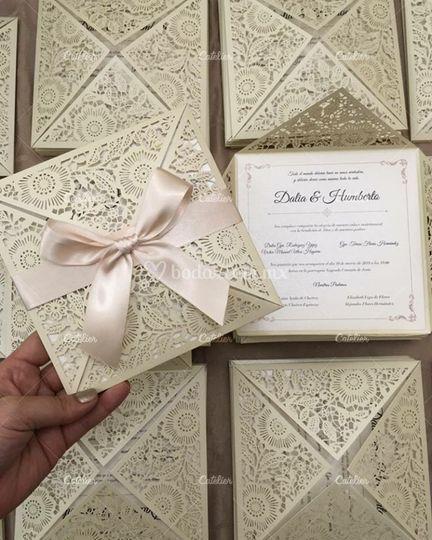 Hermosas invitaciones de boda