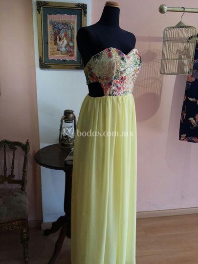 Vestido falda plizada