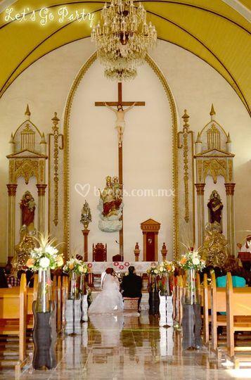 Decoración en iglesia