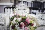 Detalles florales de mesa