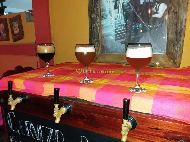 Trio de cervezas
