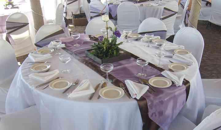 Montaje para el banquete