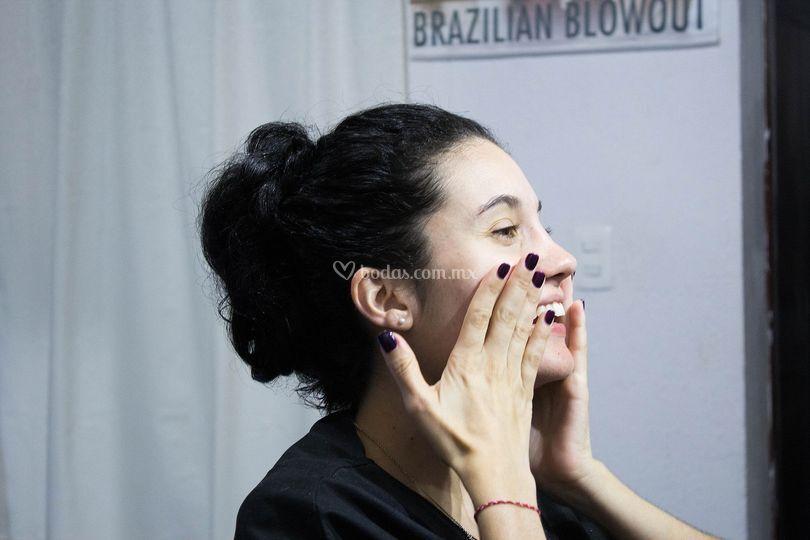 Preparación para el maquillaje