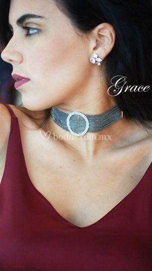 2bf36f8f6692 Choker cadena plateado de Grace C De Mode