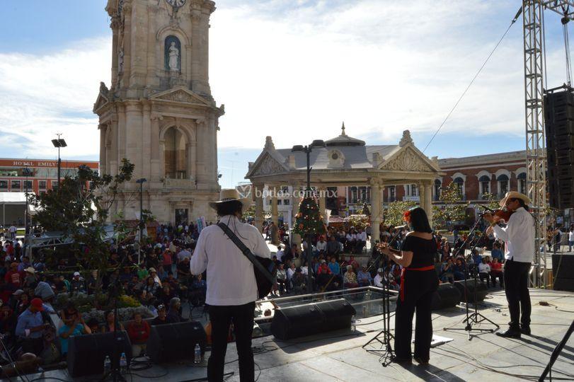Una presentación en Pachuca