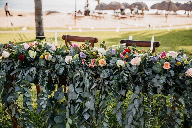 Un espacio lleno de flores