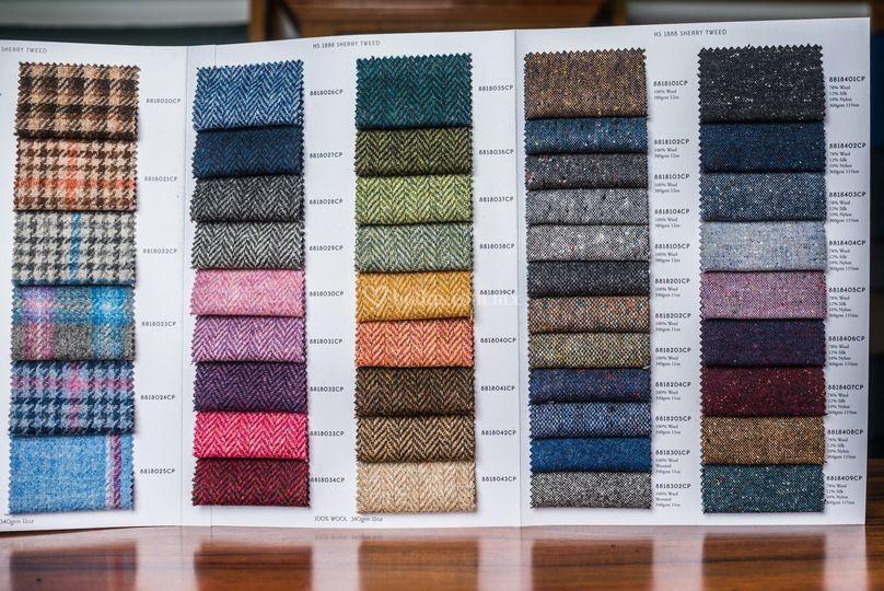 Muestrario de telas y colores