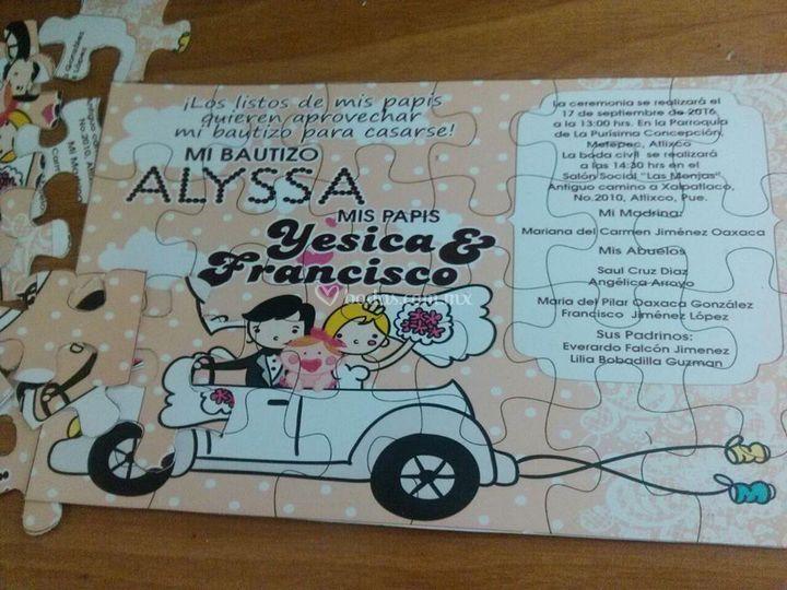 Invitación de puzzle