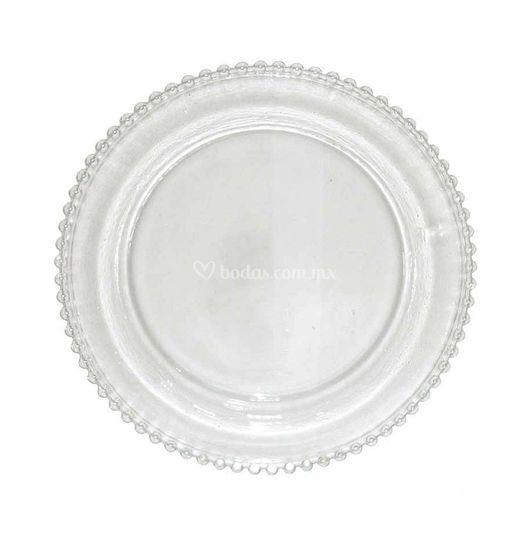 Bajo plato bola transparentes