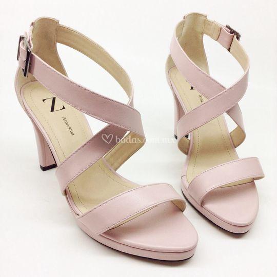 Sandalia en rosa
