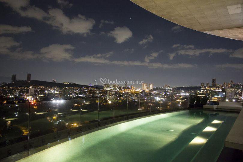 Sky bar de noche
