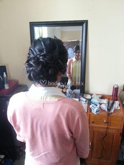 Peinado de novia prueba