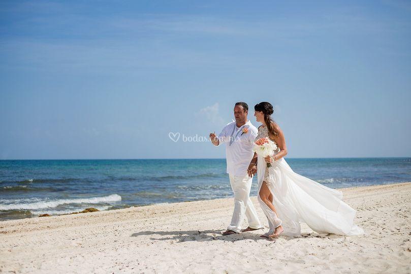 Sesión de boda en la playa