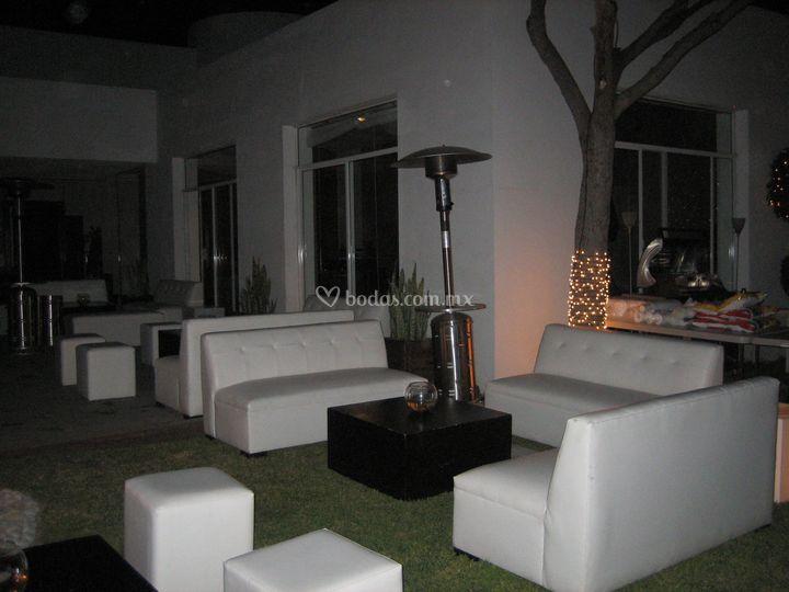 Sala lounge y calentadores