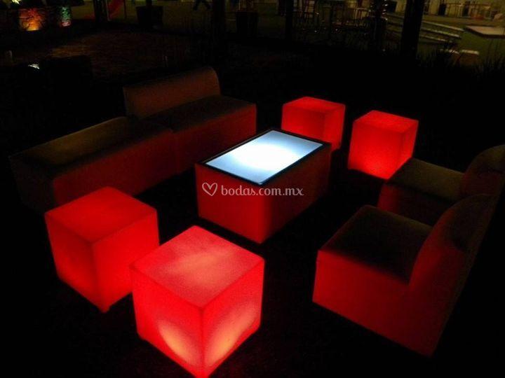 Salas lounge iluminadas