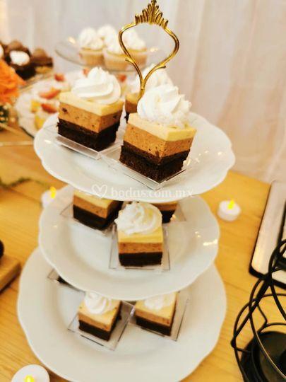 Mesa de postres: 3 chocolates